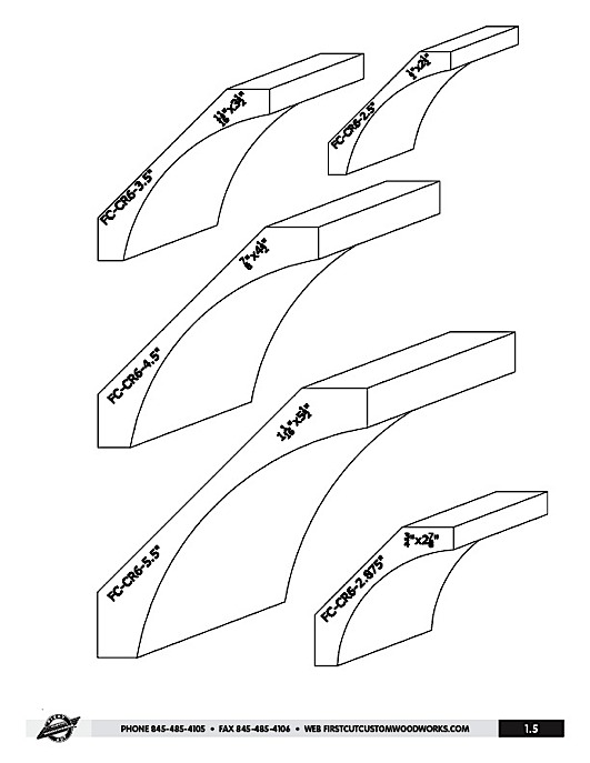 Standard molding sizes images reverse search for Standard crown molding size