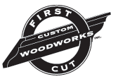 First Cut Custom Woodworks Logo
